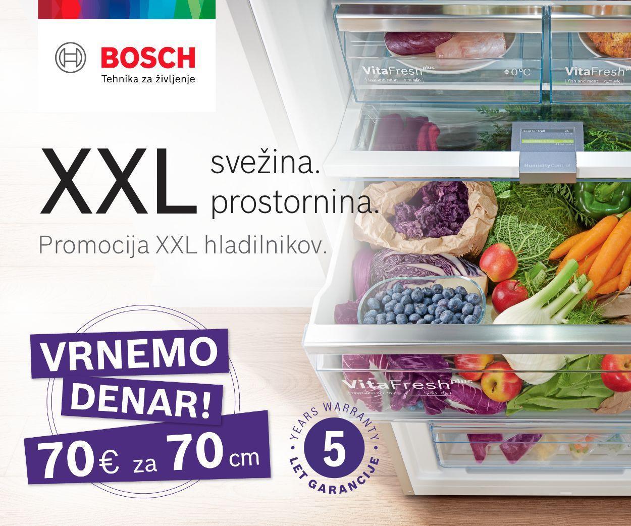 Bosch XXLHladilniki Banner vrnemo denar in 5 let garancije 2