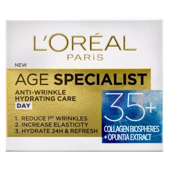 L'Oreal Paris AGE SPECIALIST ANTI-WRINKLE 35+ VLAŽILNA DNEVNA NEGA PROTI GUBAM 50ML