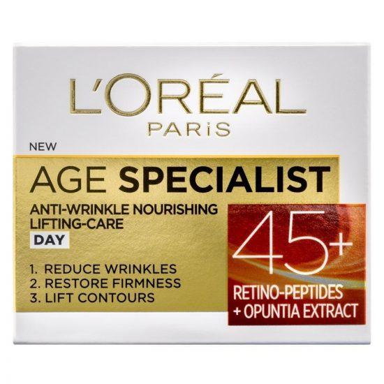 L'Oreal Paris AGE SPECIALIST ANTI-WRINKLE 45+ DNEVNA NEGA PROTI GUBAM 50ML