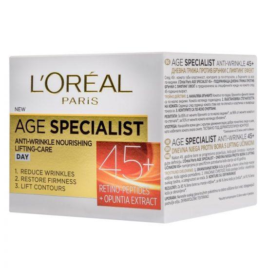 L'Oreal Paris AGE SPECIALIST ANTI-WRINKLE 45+ DNEVNA NEGA PROTI GUBAM 50ML 1