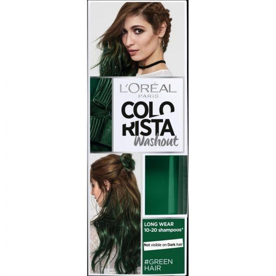 L'Oreal Paris COLORISTA WASH OUT 20 GREEN HAIR