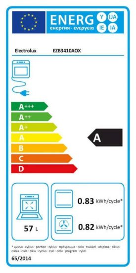 Električna pečica ELECTROLUX EZB3410AOX emajl