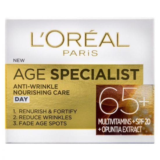 L'Oreal Paris AGE SPECIALIST ANTI-WRINKLE 65+ HRANILNA DNEVNA NEGA PROTI GUBAM 50ML