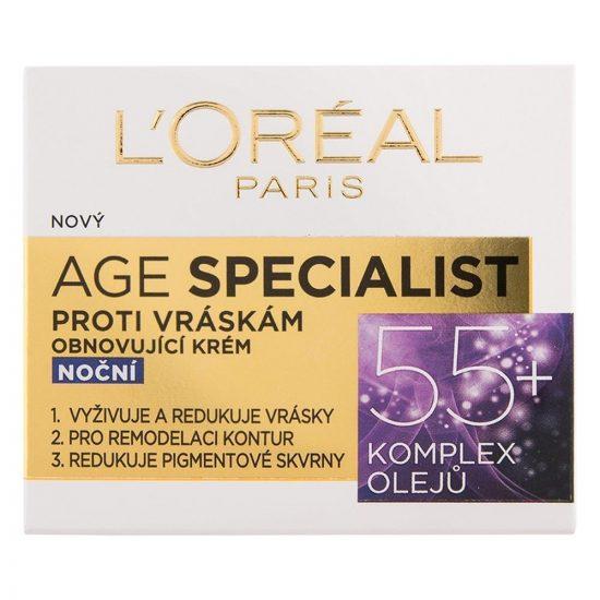 L'Oreal Paris AGE SPECIALIST ANTI-WRINKLE 55+ NOČNA NEGA ZA PONOVNO UČVRSTITEV KOŽE 50ML