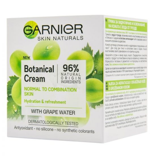 Garnier SKIN NATURALS BOTANICAL CREAM NEGA Z GROZDNO VODO 50ML 1