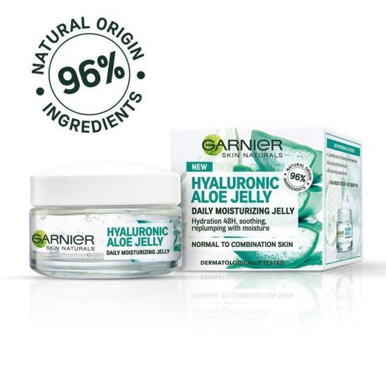 Garnier Garnier Skin Naturals Hyaluronic Aloe Jelly vlažilni gel za obraz za normalno kožo 50 ml