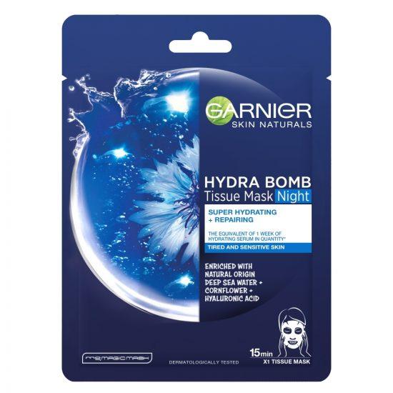 Garnier Garnier Skin Naturals Hydra Bomb Tissue Mask Night maska za obraz nočna 32g
